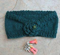 Hippie headbandGreen ear warmer  Knit ear warmer  by KennaInAfrica, $21.50