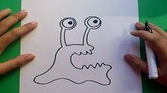 como dibujar un monstruo - YouTube