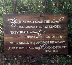 they that wait upon the Lord, wood signs, handpainted sign, Scripture sign, home decor, wall decor, living room decor, inspirational decor,  they that wait upon the Lord eagles, they that wait upon the Lord shall renew