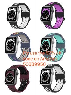 We match different colors buckle according to the different colors of the apple watch bands. All the iWatch bands with the breathable ventilation holes, special for sporting.