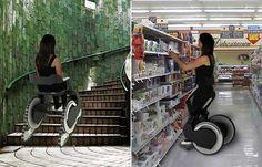 Il prototipo della sedia a rotelle per disabili Carrier che permette di salire e scendere le scale. Sviluppata da un gruppo di cinque studenti austriaci.