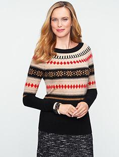 Talbots - Fair Isle Colorblocked Sweater | Sweaters | Misses, $79.50
