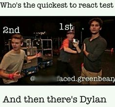 Dylan O'Brien, Thomas Sangster and Will Poulter