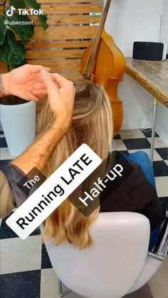 For when you're late to a power brunch but still need to do your hair. click through for more tips hair videos Running Late Hairstyle Running Late Hairstyles, Easy Hairstyles For Long Hair, Latest Hairstyles, Pretty Hairstyles, Girl Hairstyles, Wedding Hairstyles, Hairstyles Videos, Formal Hairstyles, Wedding Updo