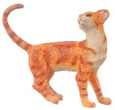 DOLLHOUSE MINIATURE Orange Cat #A4156OR