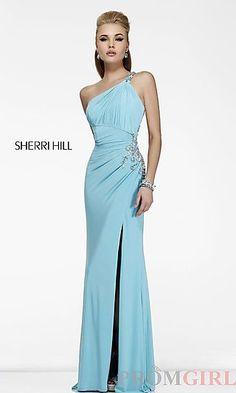 Long One Shoulder Formal Gown