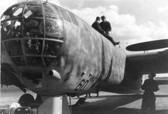 "The Heinkel He 177 Greif became known as the ""Flaming Coffin"" due to the serious engine problems on initial versions of the aircraft, many of these because of  the engines' installation in their wing nacelles. A long-range bomber, the He177 was wrongly designated a dive bomber to perform a milder version of the Stuka dive bombing.In common with most German bombers, the He 177 was grounded from the summer of 1944 on as Allied bombing crippled German fuel production."