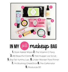A Perfectly Posh Make-Up Bag. Add one or several of these awesome products to your daily routine and see amazing results! Find a consultant and get some today @ perfectlyposh.com