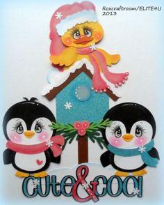 paper piecing christmas | ELITE4U PREMADE CHRISTMAS TEAR BEAR PAPER PIECING SCRAPBOOK ALBUM PAGE ...