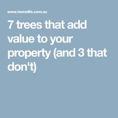 When it comes to adding value to your property, choosing the right trees to plant can make a big difference. Trees such as maples, evergreen or deciduous magnolias and frangipani are likely to add value as they are attractive, easy care and compact. Trees To Plant, Gardening Tips, Things To Come, Ads, Exterior, Plants, Tree Planting, Planters, Plant