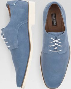 Stacy Adams Tremain Blue Suede Lace Ups