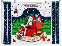 Susan Winget Christmas Fabric Apron Panel Santa by LindaKayDesigns, $6.00