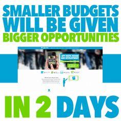 Smaller budgets will be given bigger opportunities in 2 days.. #smallbusiness #marketing #appdevelopment #graphicdesign #socialmedia #melbourne #marketingconsultants #marketingmelbourne #smallbusinessmarketing #logodesign #websitedesign #html5 #creativity #imagination #design