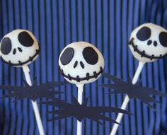 @Becky Mitchell  Jack Skellington cake pops.  You should totally make these too!