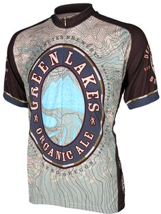 World Jerseys Green Lakes Organic Ale Mens Cycling Jersey
