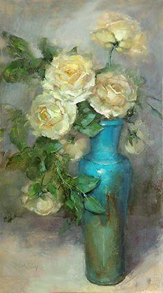 Iceberg-Rose by Barbara Schilling Oil ~ 28 x 16