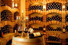 unique detailing in this wine cellar