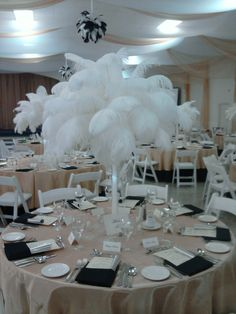 Ostrich Feather Eiffle Towers