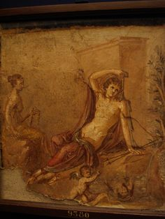 Narcissus and Echo. Ancient Roman fresco (45-79 CE) from Pompeii, Italy. Art Experience NYC www.artexperiencenyc.com/social_login/?utm_source=pinterest_medium=pins_content=pinterest_pins_campaign=pinterest_initial