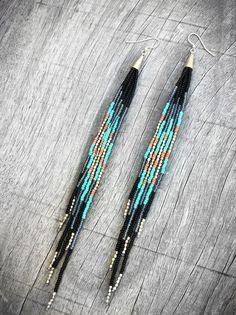 Bead boho earrings