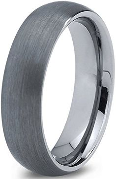 Charming Jewelers Tungsten Wedding Band Ring 6mm for Men Women Comfort Fit Domed Round Brushed Midnight Rose Collection