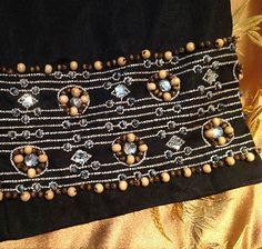 Boho Beaded Linen Capri Pants by Willie Smith Size 4   $9.99 eBay
