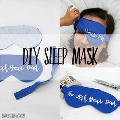 Sassy Sleep Mask   Make a fun and sassy DIY sleep mask with this easy sewing tutorial!