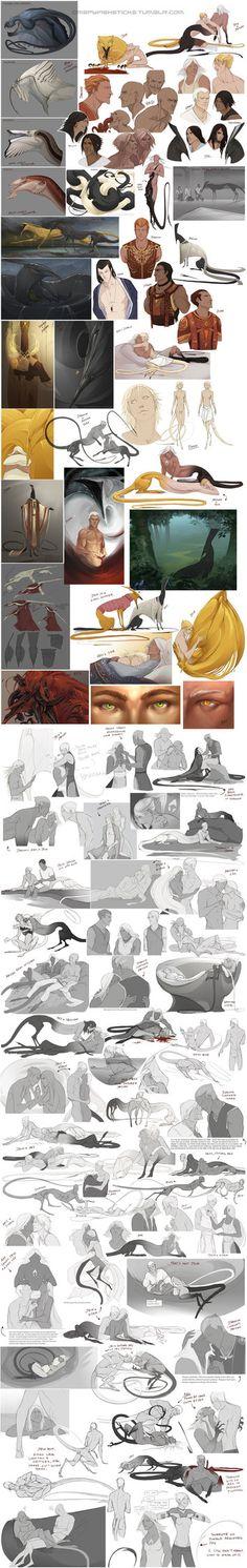 Character Sketchdump 9 by *beastofoblivion on deviantART