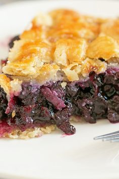 Homemade Country Blueberry Pie Recipe