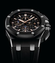 Audemars Piguet Introduces Facelifted Royal Oak Offshore Chronograph Including First-Ever Titanium Model Audemars Piguet Gold, Audemars Piguet Diver, Audemars Piguet Watches, Best Looking Watches, Cool Watches, Watches For Men, Harry Winston, Patek Philippe, Tag Heuer