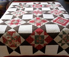 Bed Quilt Queen Patchwork Farmhouse or Man Cave by SallyManke