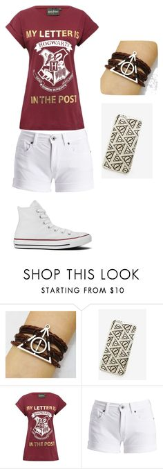 """""""Teen Girl Harry Potter Outfit"""" by percyjacksonfangirl105 on Polyvore featuring Warner Bros., Barbour International and Converse"""