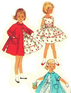 Simplicity 1936 Adorable Vintage 50s Toddler by PatternPlaying, $10.00