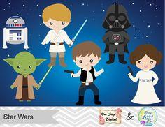 Instant Download Digital Star Wars Clipart by OneStopDigital