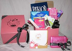 I wish I had this when I was a tween. Period Packs for girls: www.periodpacks.com   Love it!