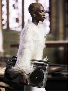 The Bold, Black and Beautiful. #team natural #big chop #Herieth Paul, Tanzania born, Ottawa model.