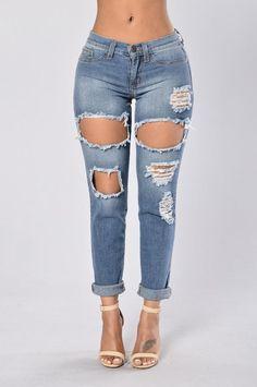 Pacific Beach Boyfriend Jeans - Medium