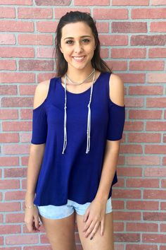 Feel Good Top - Blue from Chocolate Shoe Boutique