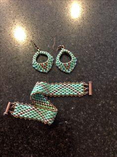 Super duo earrings and bracelet