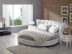 Stylish Leather Modern Contemporary Bedroom Designs with Round Bed Toledo Ohio [VVEN] : Prime Classic Design Inc, Italian modern furniture: luxury designer and genuine leather sectionals, dining room and bedroom sets distributor Modern Bedroom Furniture, Contemporary Bedroom, Bedroom Decor, Bedroom Ideas, Modern Contemporary, Master Bedroom, Bed Furniture, Modern Bedrooms, Furniture Stores