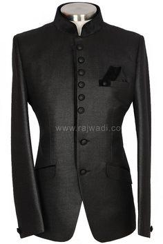 Black Jodhpuri Suit For Men - Rajwadi.com