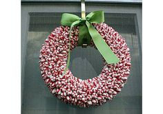 Peppermint Candy Wreath · Home and Garden | CraftGossip.com #wreath #Christmas # DIY