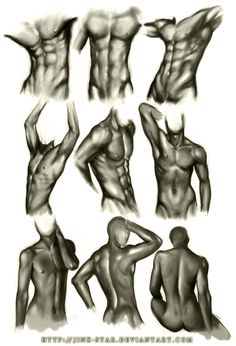How to Draw the Human Body - Study: Male Body Types for Comic / Manga Character… Human Figure Drawing, Figure Drawing Reference, Body Reference, Art Reference Poses, Anatomy Reference, Reference Photos For Artists, Drawing Legs, Human Body Art, Male Body Art