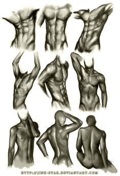 """""""Male Body Study III"""" -Jinx-Star, DeviantArt.com Repinned by www.BlickeDeeler.de"""