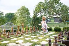 I would love to add a giant chessboard to a Alice In Wonderland themed garden.