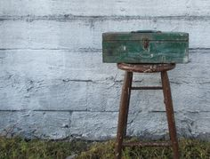 Rustic Green Metal Tool Box Planter by MidCurrentDesigns on Etsy, $37.00