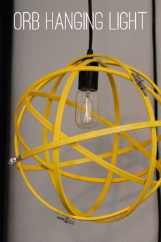 Orb Hanging Light: Have you ever had one of those projects that you've dreamed of for years but just never been able to cross off the list? Well, today I am so excited Diy Hanging, Hanging Lights, Hanging Lamps, Orb Light, Concrete Candle Holders, Diy Light Fixtures, Diy Fan, Funky Home Decor, Light Project