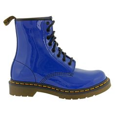Dr Martens 1460 Patent Boots (Blue)