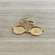 Lunar Eye Hoops sm Gold Rings, Eye, Earrings, Jewelry, Ear Rings, Stud Earrings, Jewlery, Jewerly, Ear Piercings