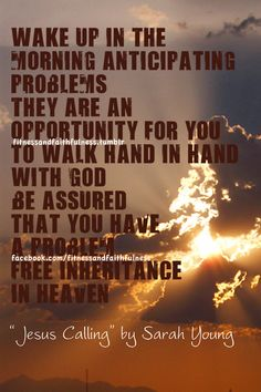Walk hand in hand with God